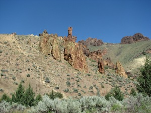 6 Rocky Spires on Hillside