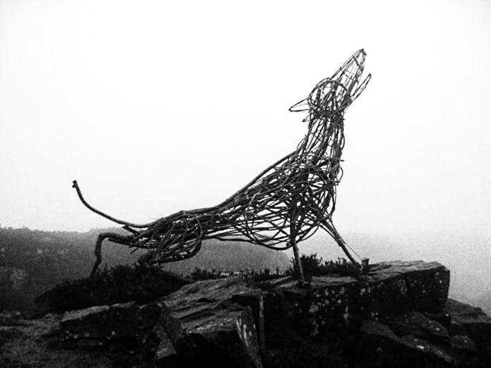 The Beast of Ilkley Moor - this fabulous structure appeared one evening at Windgate Nick - a vantage point high on the moors. It stayed for a few weeks then just as mysteriously disappeared. No one knows who put it there or where it went. Just another mystery on a very creepy moor.